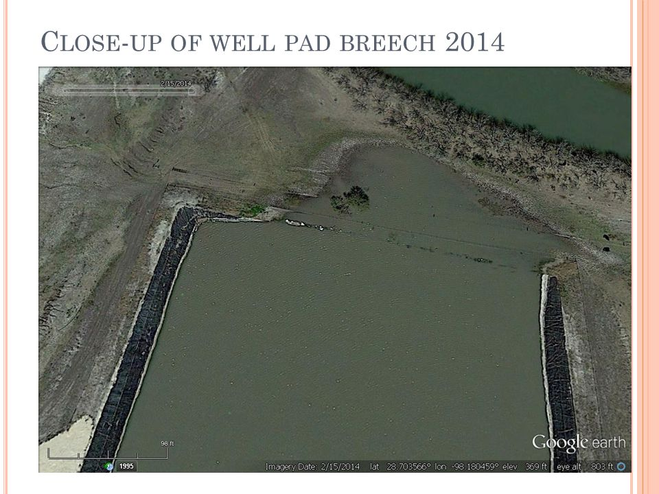 C LOSE - UP OF WELL PAD BREECH 2014