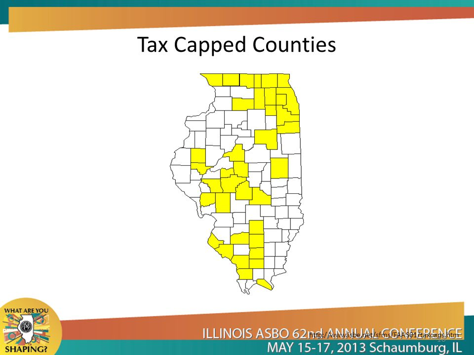 Tax Capped Counties http://www.isbe.net/sfms/FAAS01/taxcaps.htm 18