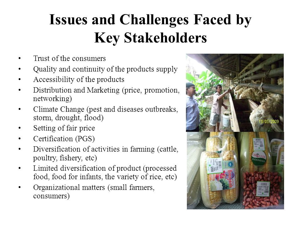 The Impact of Climate Change to Small Farmers Organic farmland yields up to 6.5 tons/ha, but the number could be negatively affected by climate change, due to such effects as pests (e.g.