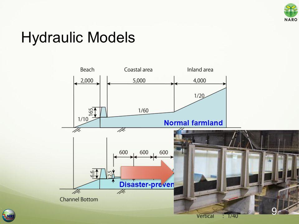 Hydraulic Models Normal farmland Disaster-prevention farmland 9