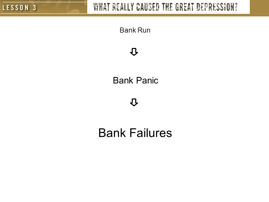 Bank Run Bank Panic Bank Failures