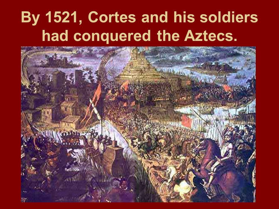 When Cortes and the Spanish conquered the Aztec empire, they destroyed most of the capital and built Mexico City on top of the ruins of Tenochtitlan.