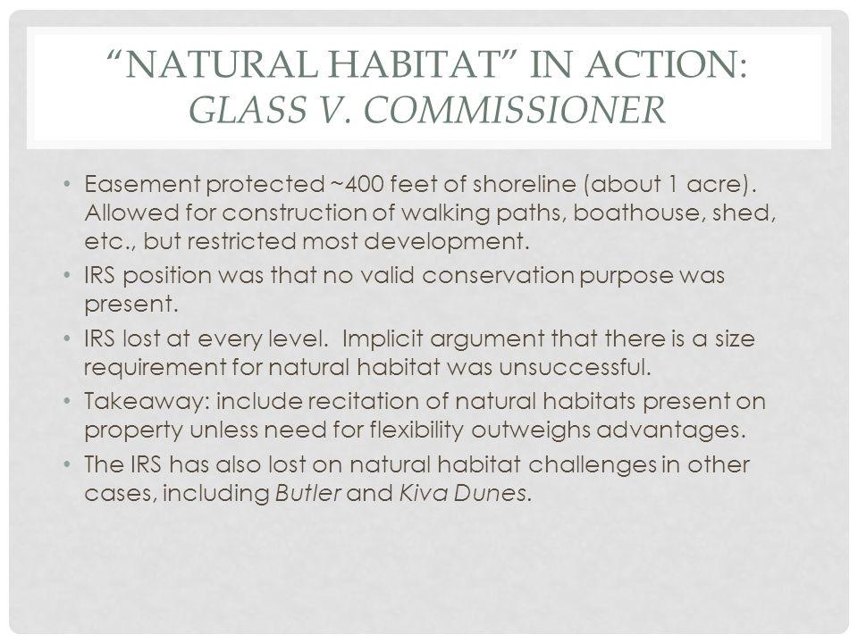 NATURAL HABITAT IN ACTION: GLASS V.