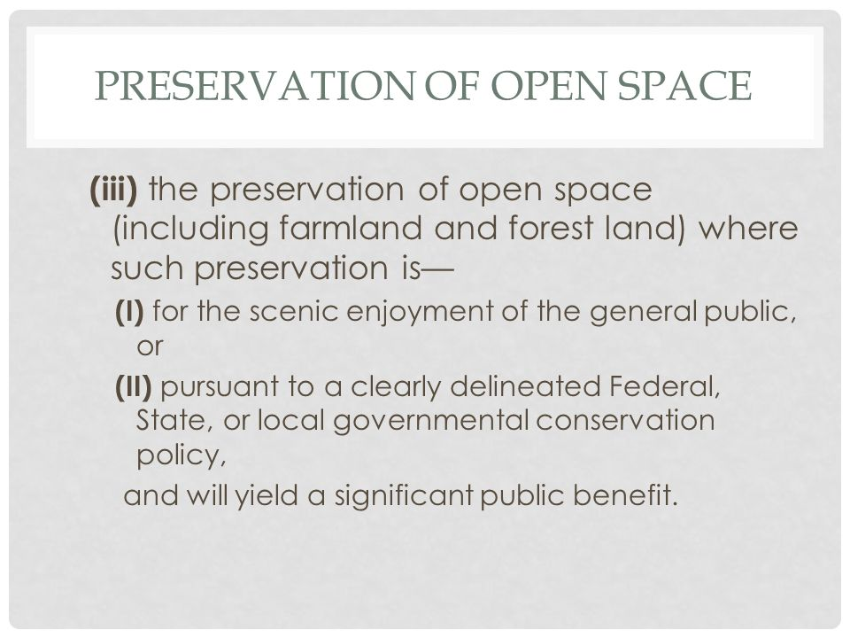 BARGAIN SALES Example: Taxpayer D agrees to accept $1.5M for an easement that reduces the value of the family ranch (long-term capital gain property) from $12M to $5M.