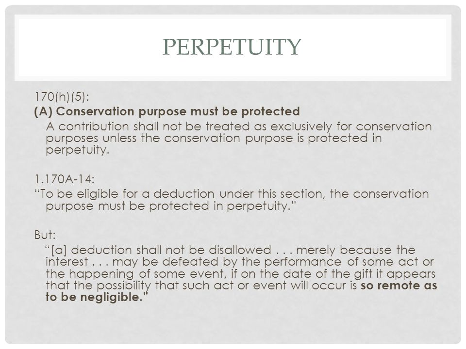 OTHER PERPETUITY CASES Belk: property subject to easement must be clearly defined.