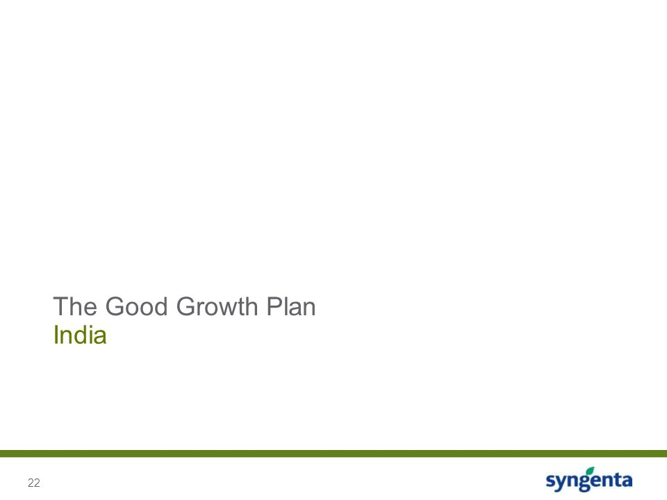 22 India The Good Growth Plan