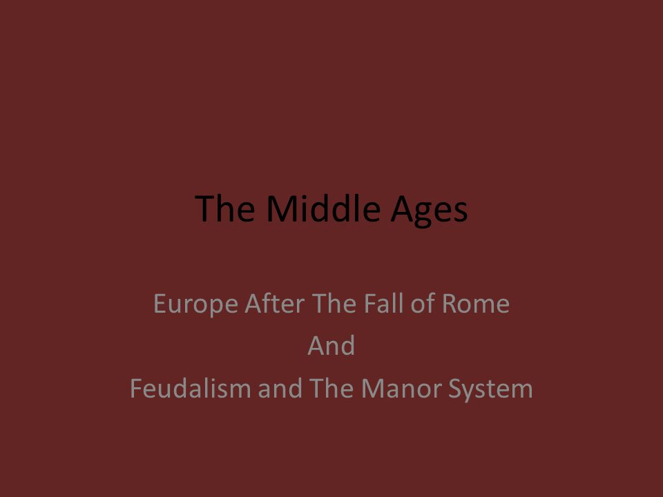 Feudalism and Manor Life Pages 506 - 511 As Feudalism declined and cities grew guilds became more common.