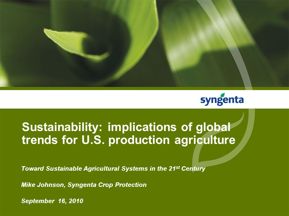 2 Syngenta at a glance ● A uniquely broad product portfolio - A leader in Crop Protection - Third in high-value commercial seeds ● World-class science -$1 billion Research and Development (R&D) investments -4,000 people in R&D around the world ● Global reach and experience - Over 24,000 employees in more than 90 countries ● Commitment to working with customers