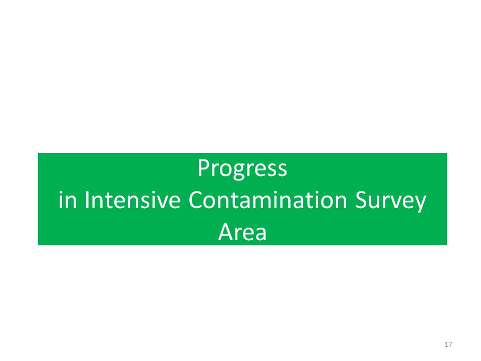 Progress in Intensive Contamination Survey Area 17