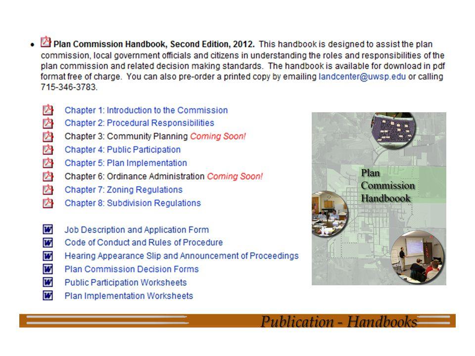 Publication - Handbooks