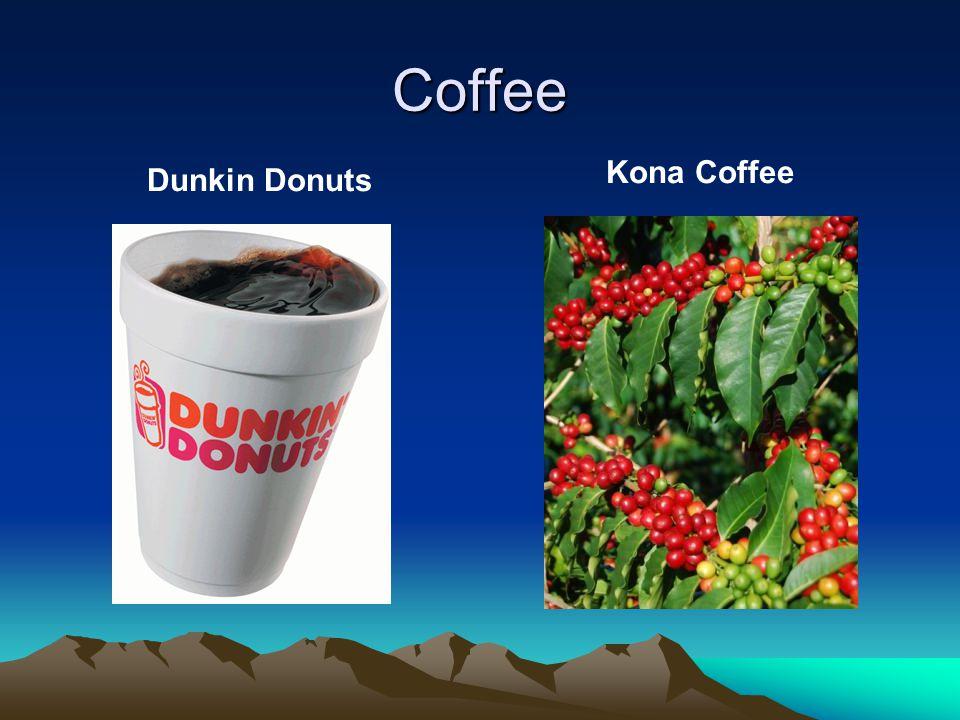 Coffee Dunkin Donuts Kona Coffee