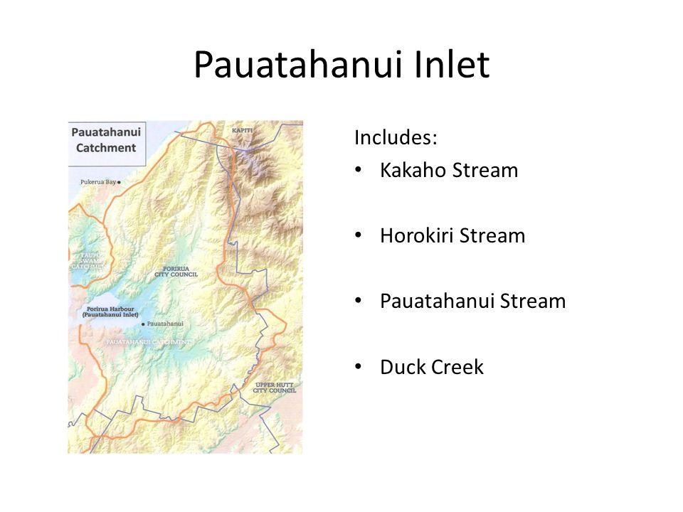 Onepoto Arm Includes: Kenepuru Stream Titahi Bay catchment Takapuwahai Stream Porirua Stream – Mitchell Stream – Stebbings Stream – Takapu Stream