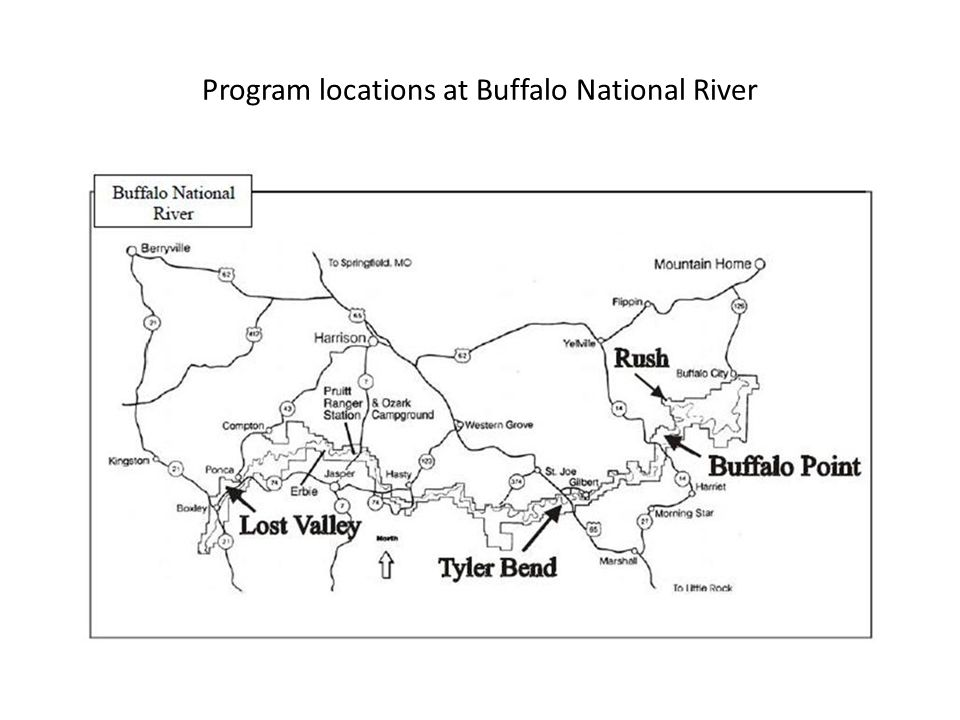 Program locations at Buffalo National River