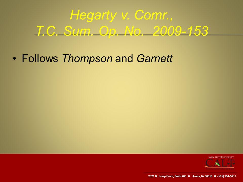 2321 N. Loop Drive, Suite 200  Ames, IA 50010 (515) 294-5217 Hegarty v.