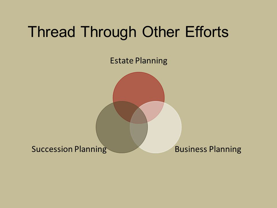 Thread Through Other Efforts Estate Planning Business Planning Succession Planning