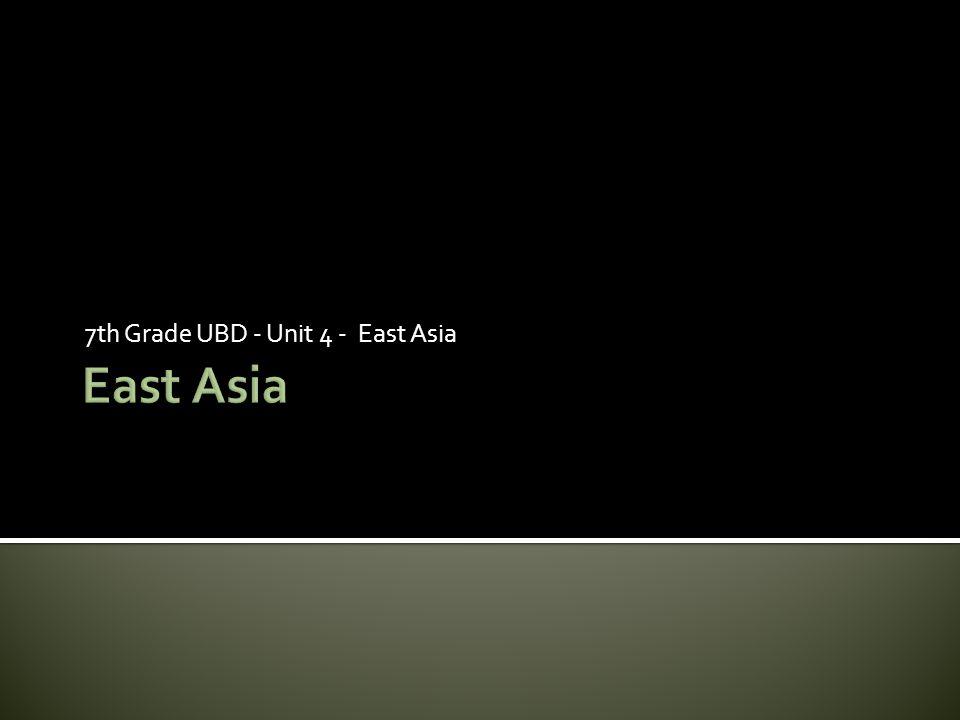 7th Grade UBD - Unit 4 - East Asia