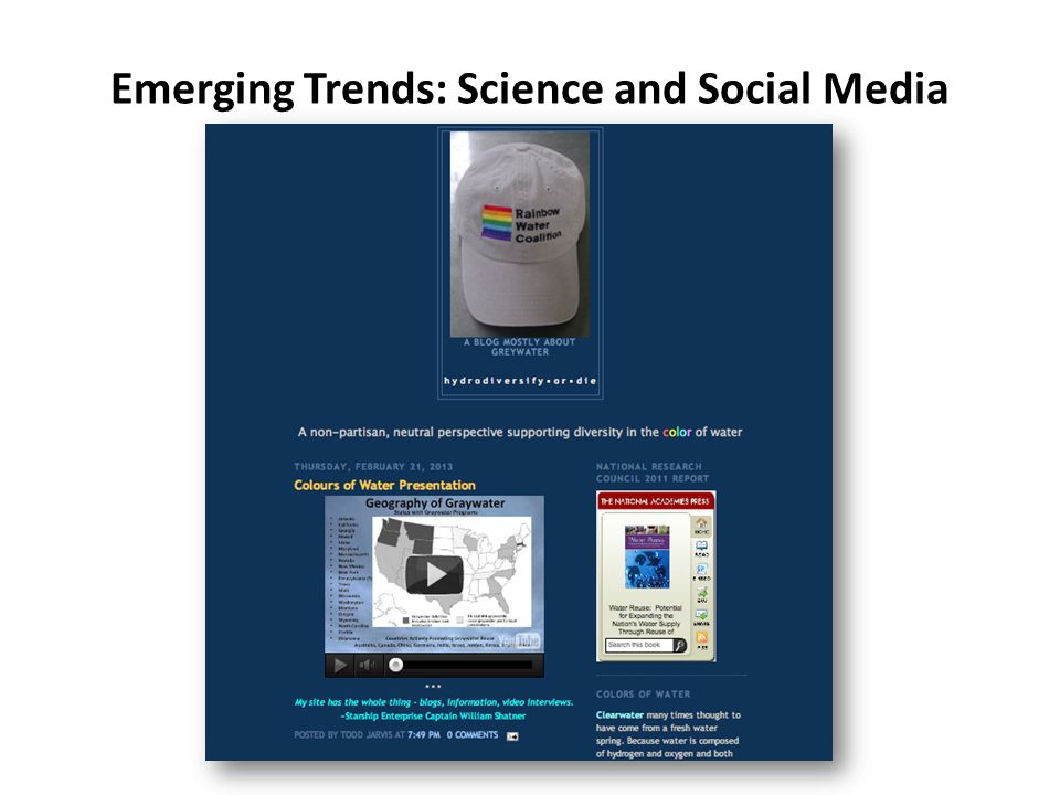 Emerging Trends: Science and Social Media