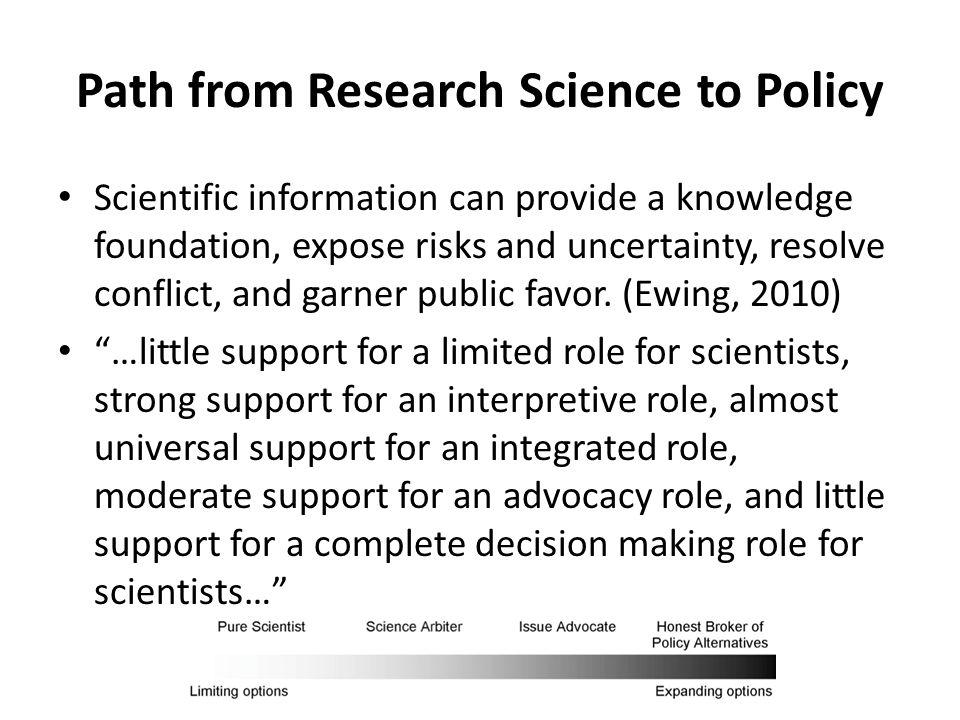 Science & Honest Brokers From Pielke (2007)