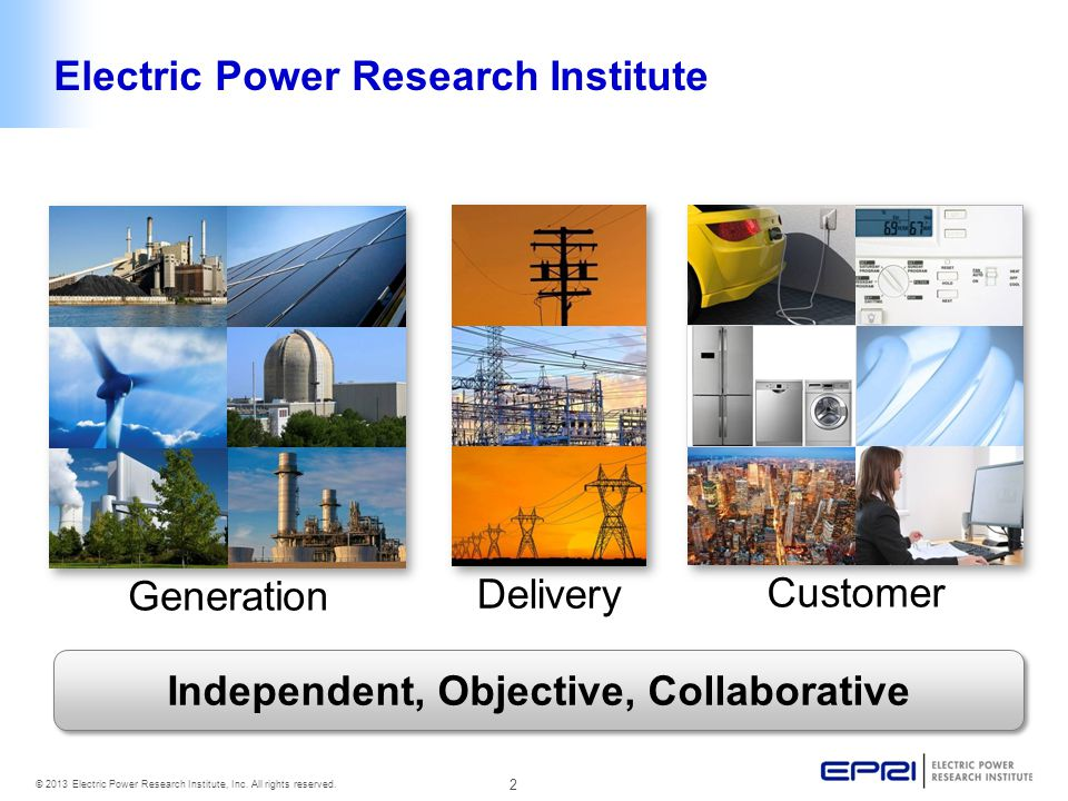 3 © 2013 Electric Power Research Institute, Inc.All rights reserved.