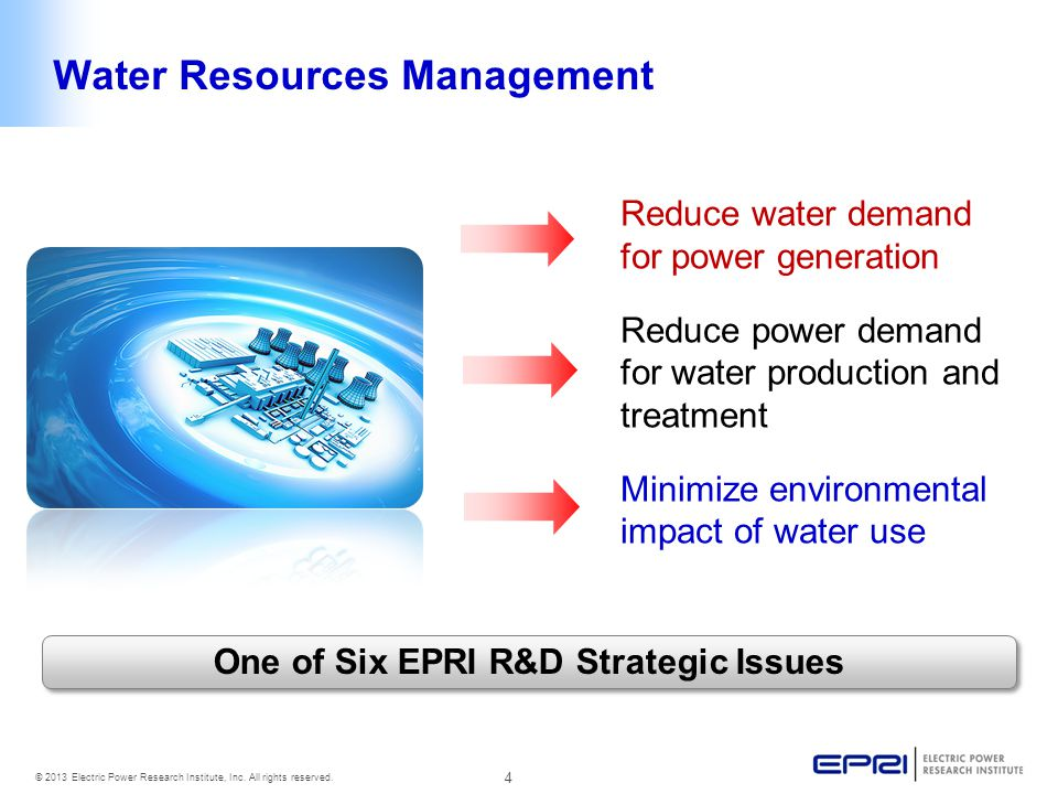 4 © 2013 Electric Power Research Institute, Inc. All rights reserved.