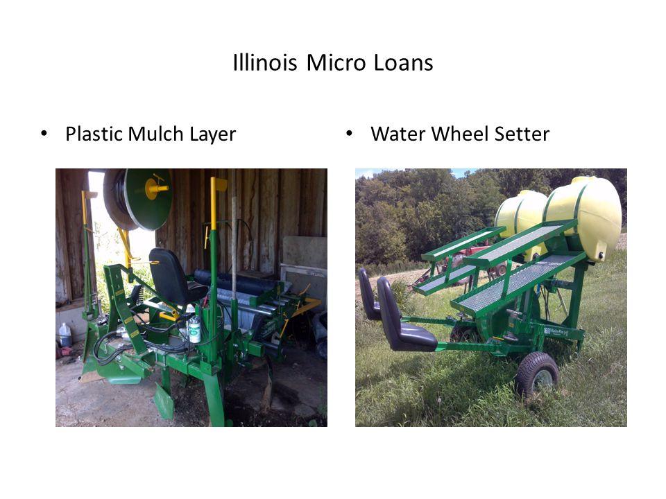 Illinois Micro Loans Plastic Mulch Layer Water Wheel Setter