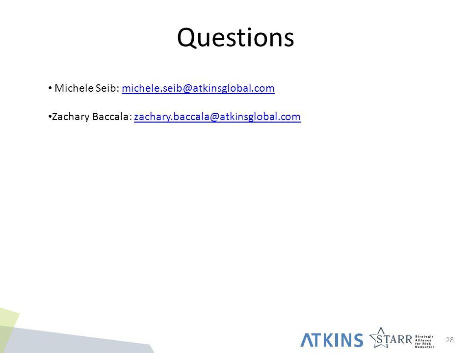 Questions 28 Michele Seib: michele.seib@atkinsglobal.commichele.seib@atkinsglobal.com Zachary Baccala: zachary.baccala@atkinsglobal.comzachary.baccala@atkinsglobal.com