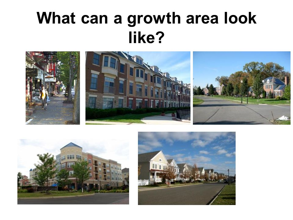 What can a growth area look like?