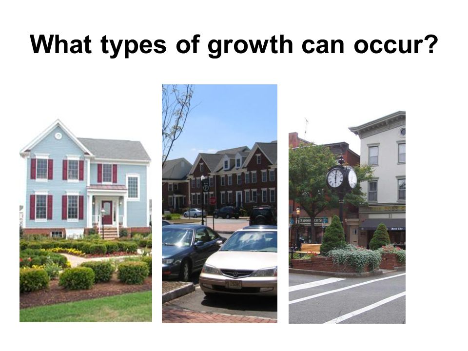 What types of growth can occur?
