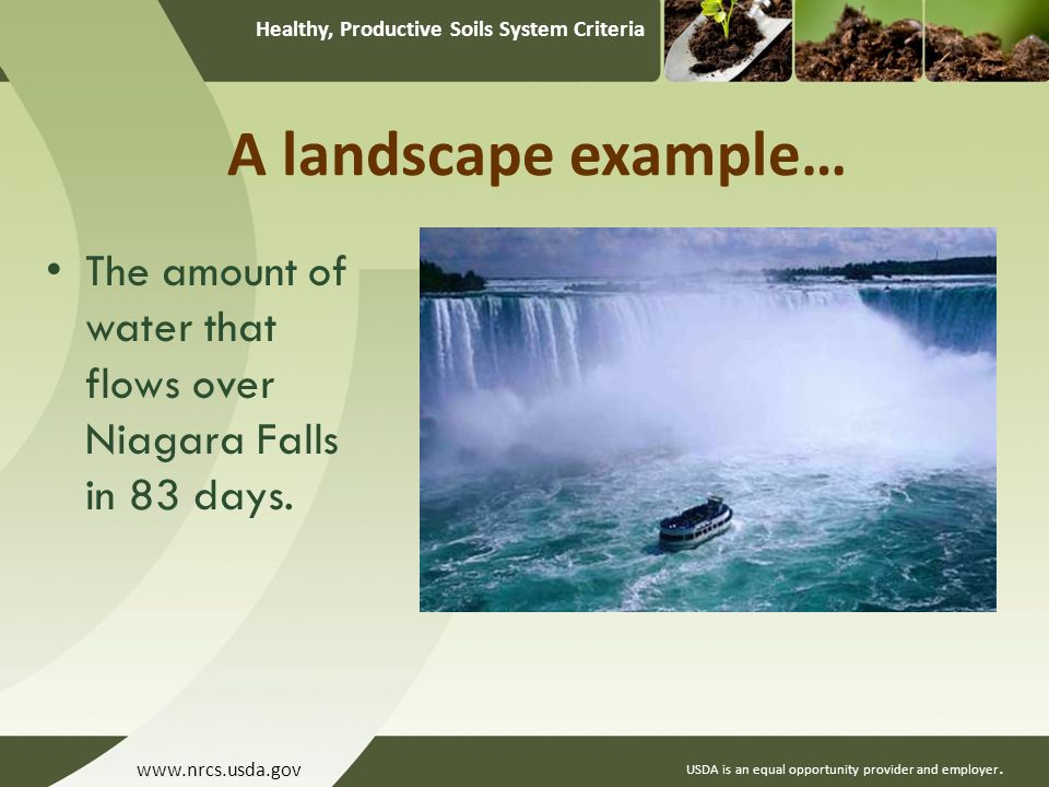 Healthy, Productive Soils System Criteria USDA is an equal opportunity provider and employer.