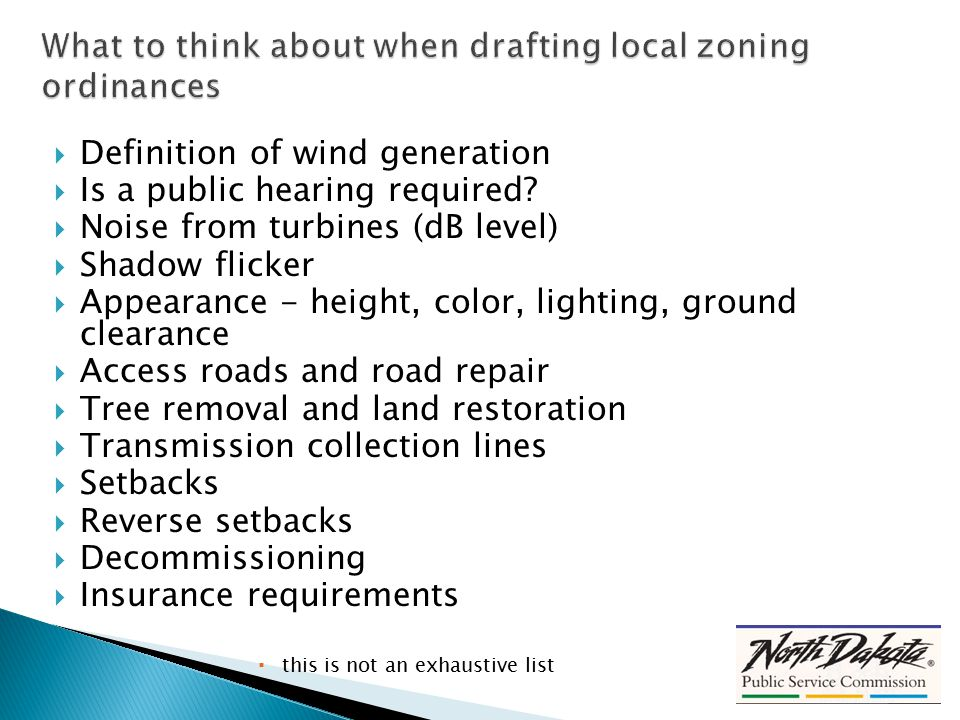  Definition of wind generation  Is a public hearing required.