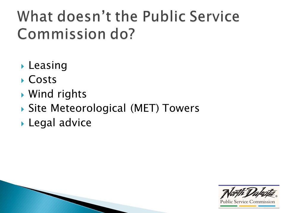  Leasing  Costs  Wind rights  Site Meteorological (MET) Towers  Legal advice