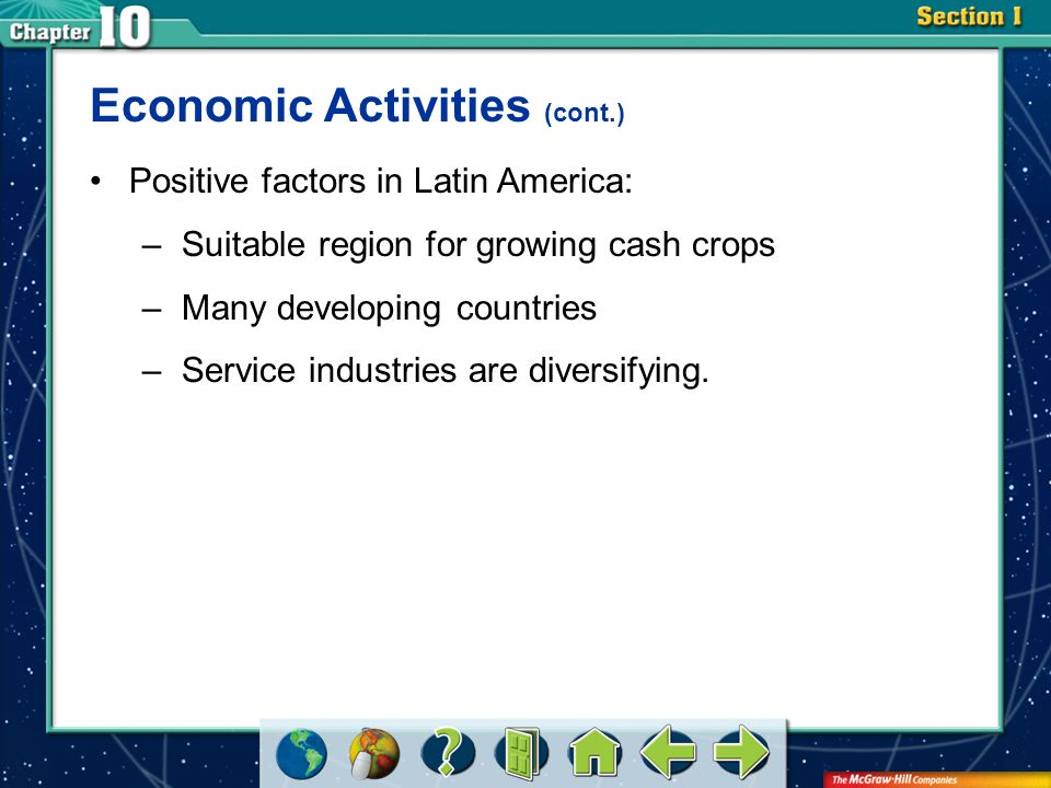 Section 2 Rapid urbanization and industrial growth have placed tremendous stress on available natural resources in Latin America.