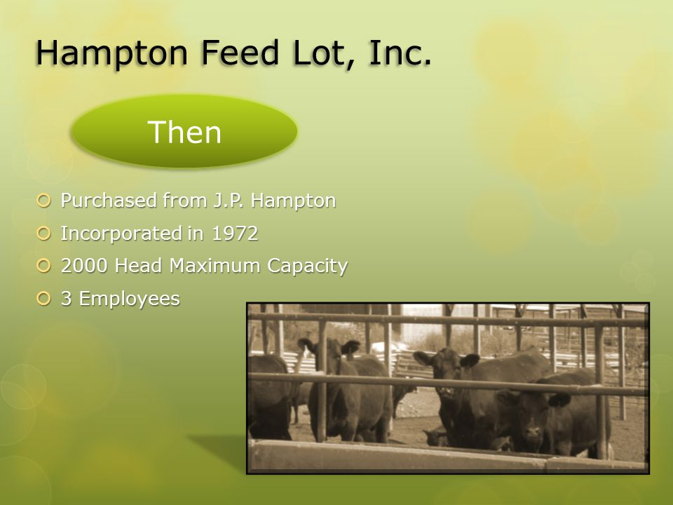 Hampton Feed Lot, Inc.  Purchased from J.P.