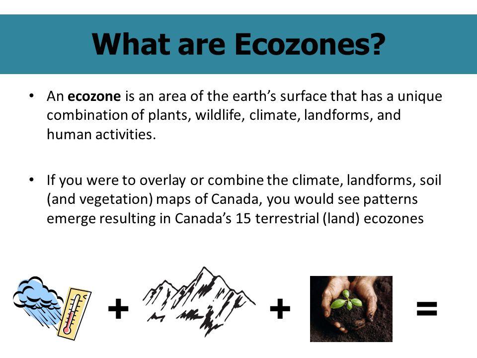 What are Ecozones.