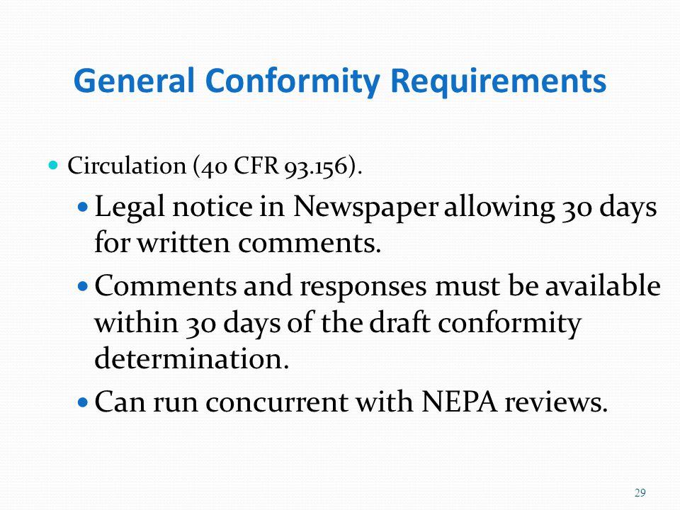 General Conformity Requirements Circulation (40 CFR 93.156).
