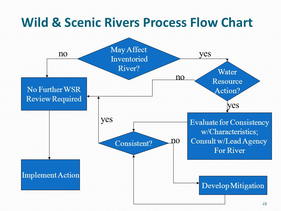 Wild & Scenic Rivers Process Flow Chart 49 May Affect Inventoried River.