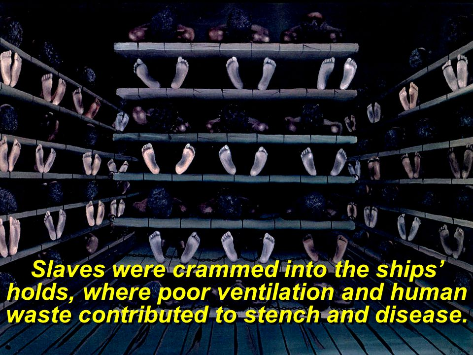 Females were separated from the males, and often were abused by the crew.