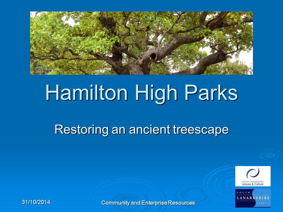 Community and Enterprise Resources Hamilton High Parks Restoring an ancient treescape 31/10/2014