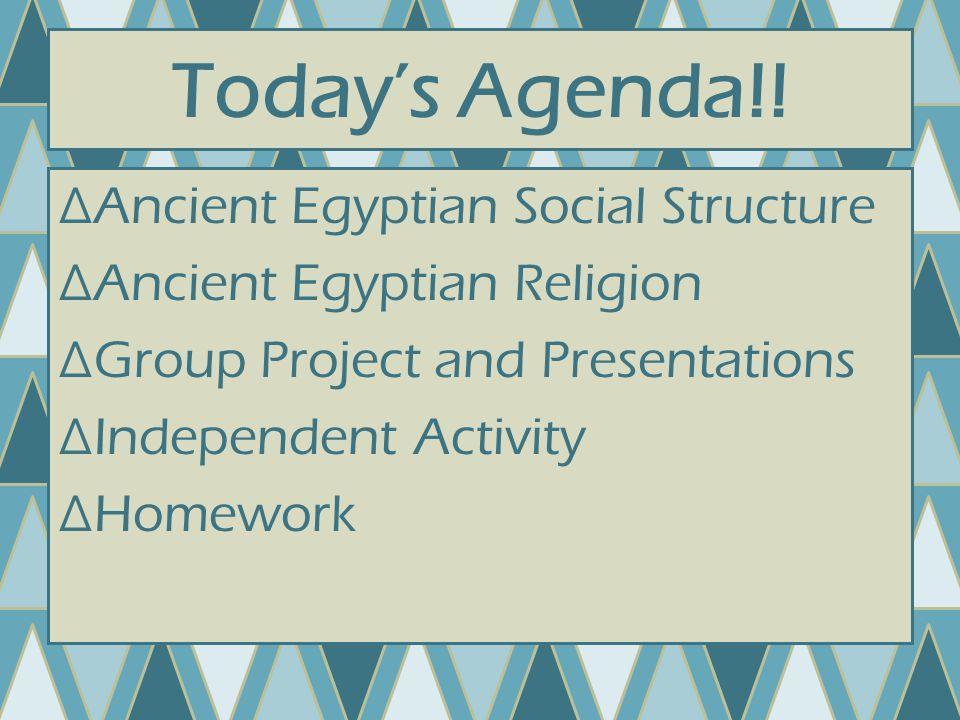 Today's Agenda!.