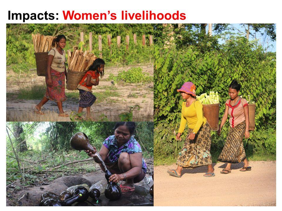 Impacts: Women's livelihoods