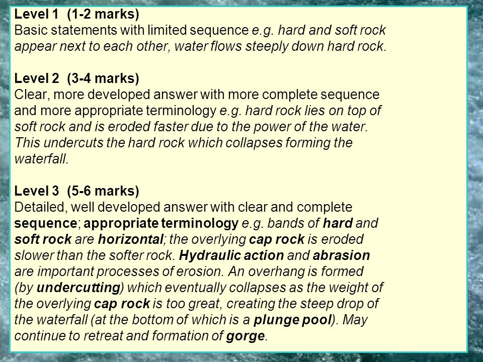 Level 1 (1-2 marks) Basic statements with limited sequence e.g.