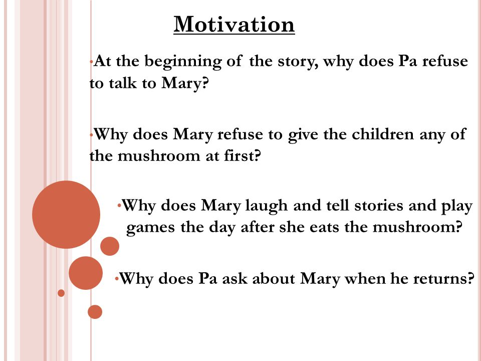 At the beginning of the story, why does Pa refuse to talk to Mary.