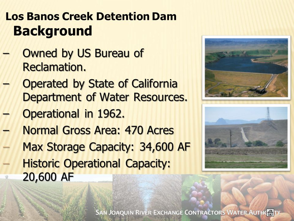 –Owned by US Bureau of Reclamation.