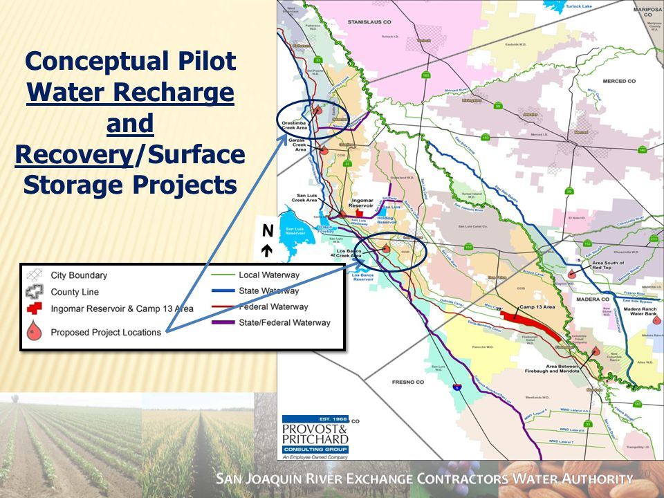20 Conceptual Pilot Water Recharge and Recovery/Surface Storage Projects NN