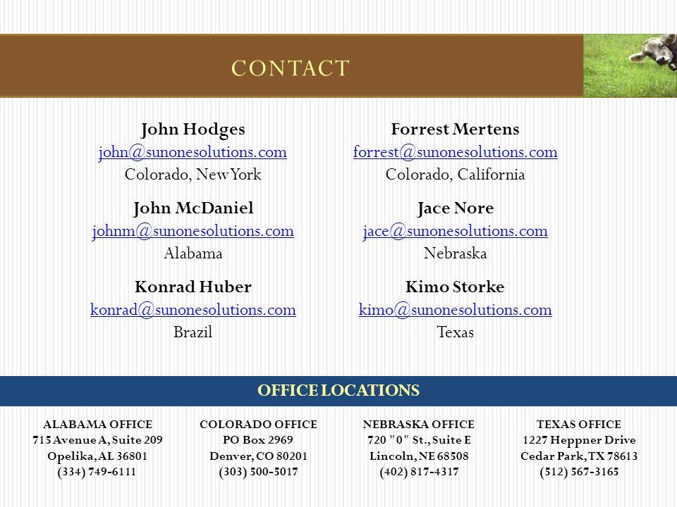 ALABAMA OFFICE 715 Avenue A, Suite 209 Opelika, AL 36801 (334) 749-6111 COLORADO OFFICE PO Box 2969 Denver, CO 80201 (303) 500-5017 NEBRASKA OFFICE 72
