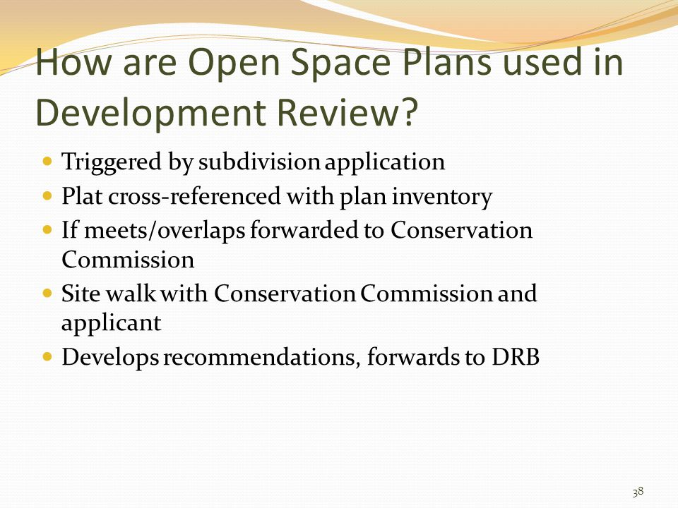 How are Open Space Plans used in Development Review.