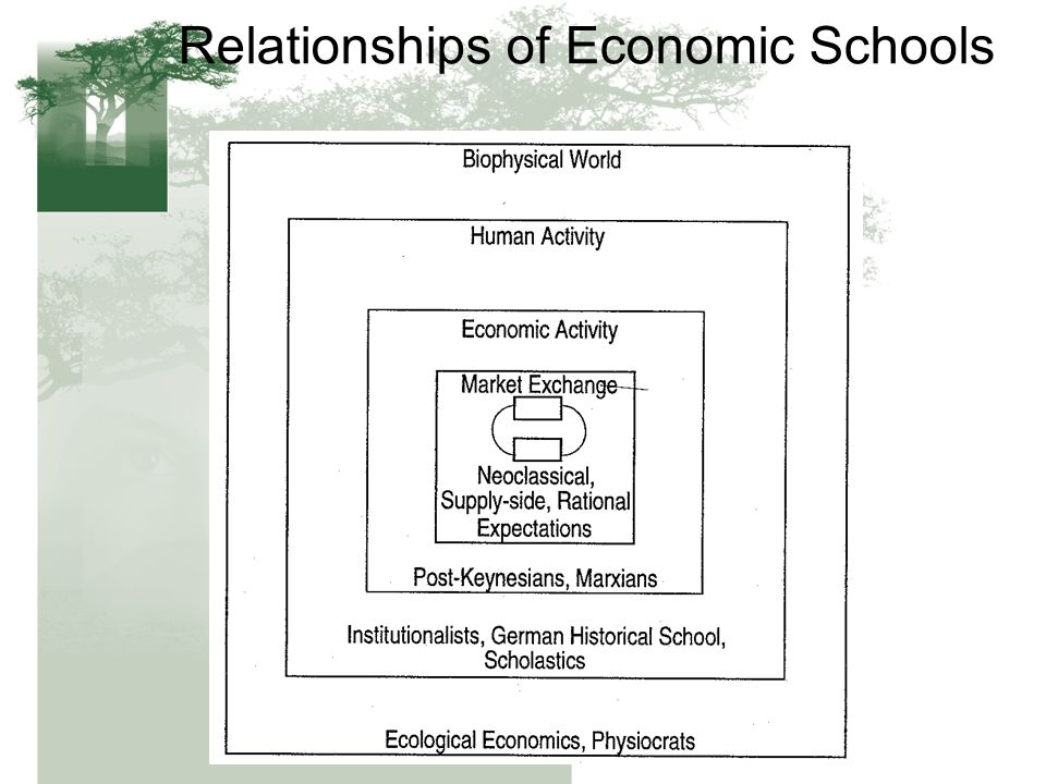 Relationships of Economic Schools