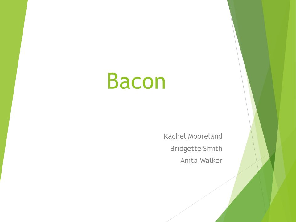 Bacon Rachel Mooreland Bridgette Smith Anita Walker