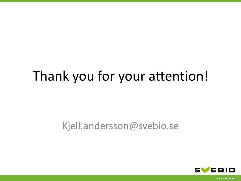 www.svebio.se Thank you for your attention! Kjell.andersson@svebio.se