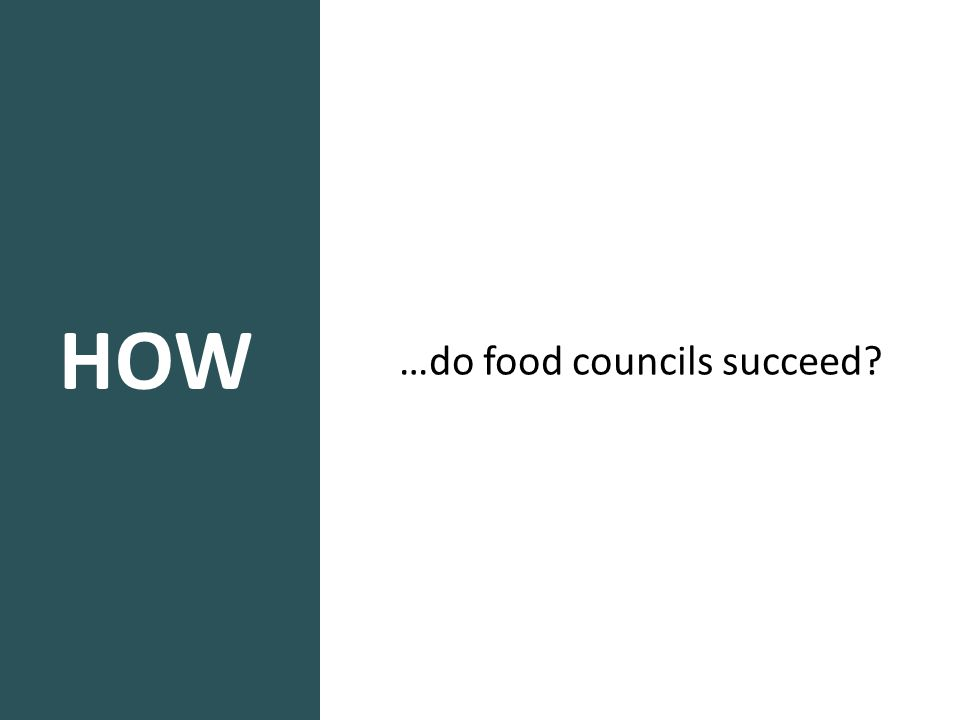 HOW …do food councils succeed?
